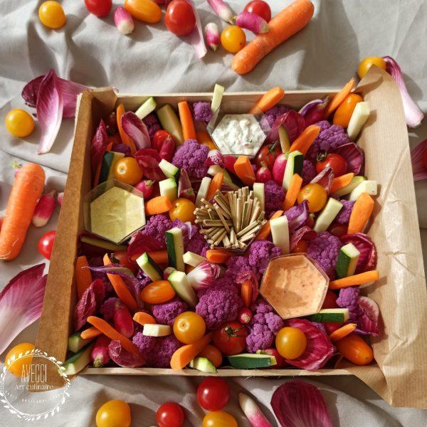 plateau à partager crudités avecci food box