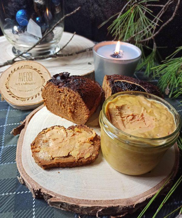 plateau de foie gras et de pain d'épices